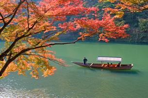 嵐山の観光遊覧船の写真素材 [FYI00057223]