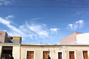 ウユニ市街地の空の写真素材 [FYI00057335]