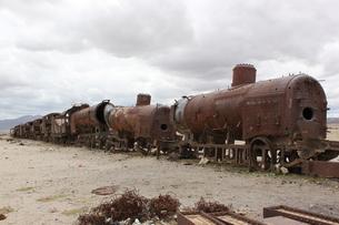 列車墓場の写真素材 [FYI00057351]