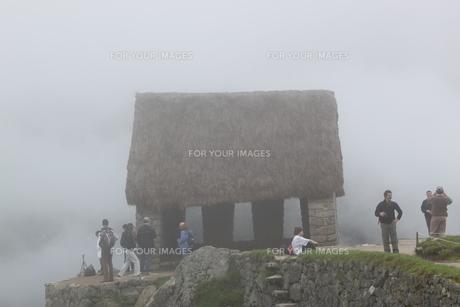 マチュピチュの見張り小屋の写真素材 [FYI00057366]