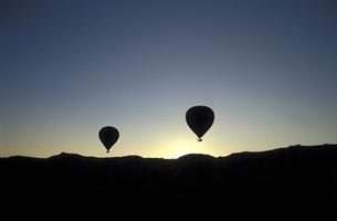 シルエットの気球の素材 [FYI00057505]
