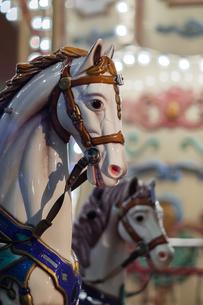 回転木馬のアップの写真素材 [FYI00057679]