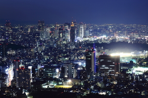 六本木より新宿方面を見た夜景の写真素材 [FYI00057942]