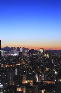 文京区から見た薄明夜景の写真素材 [FYI00058010]