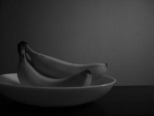 バナナの輪郭の写真素材 [FYI00058032]
