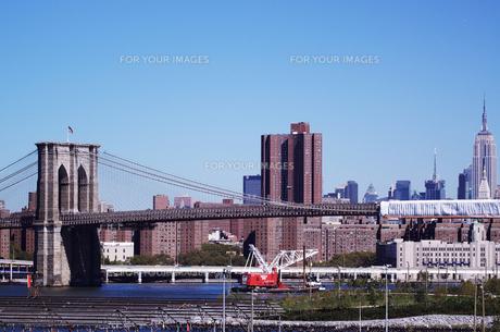 ブルックリンプロムナードから見たマンハッタンの写真素材 [FYI00058666]