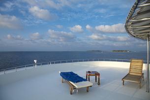 クルーズ船トップデッキからのインド洋の眺めの写真素材 [FYI00058845]
