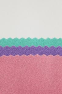 3色のフェルトの写真素材 [FYI00059435]
