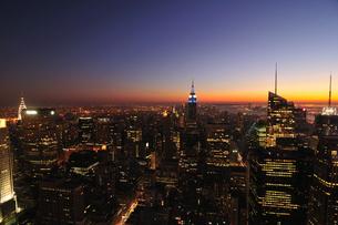 ニューヨーク 夜景の写真素材 [FYI00059594]