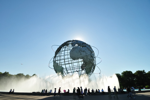 フラッシングメドウパークの巨大地球儀の写真素材 [FYI00059637]