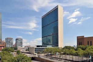 ニューヨーク、国連本部の写真素材 [FYI00059713]