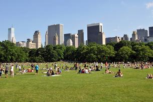 初夏のニューヨーク、セントラルパークの写真素材 [FYI00059715]