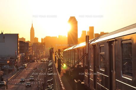 ニューヨークの夕日の素材 [FYI00059755]