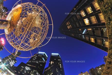 ニューヨーク、夜のコロンバスサークルの素材 [FYI00059785]