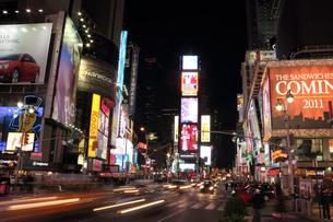 タイムズスクエア 夜景の写真素材 [FYI00059958]