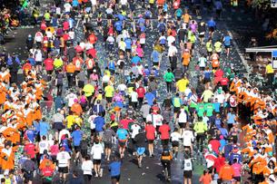 ニューヨーク シティ マラソンの写真素材 [FYI00059977]