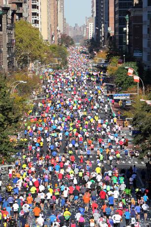 ニューヨーク シティ マラソンの写真素材 [FYI00059983]