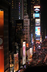 タイムズスクエア 夜景の写真素材 [FYI00060060]