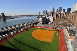 野球場とロワー マンハッタンの写真素材 [FYI00060218]
