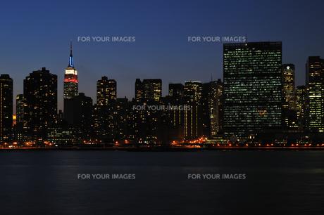 プレジデントデイの夜景の写真素材 [FYI00060252]