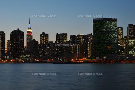 プレジデントデイの夜景の写真素材 [FYI00060257]