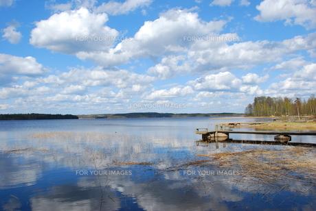 フィンランドの湖の写真素材 [FYI00060593]