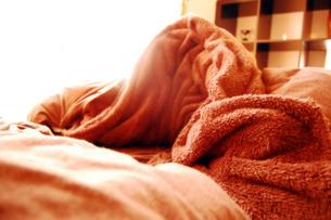 茶色のベッドの写真素材 [FYI00060801]