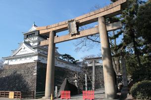 八坂神社と小倉城の写真素材 [FYI00060960]