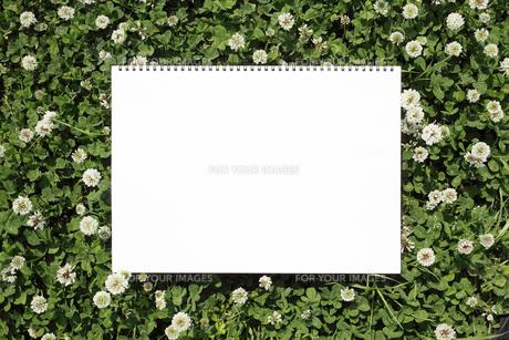 草原とスケッチブックの写真素材 [FYI00061038]