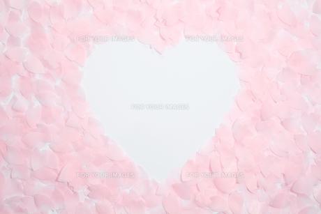 紙の桜吹雪でハートの写真素材 [FYI00061173]