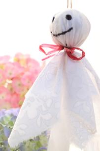 紫陽花とテルテル坊主の写真素材 [FYI00061208]