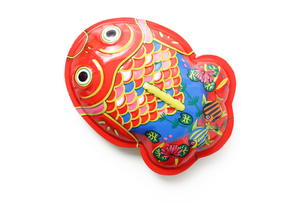 キリヌキ用ブリキの金魚の写真素材 [FYI00061339]