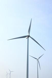 風力発電風車の写真素材 [FYI00061360]
