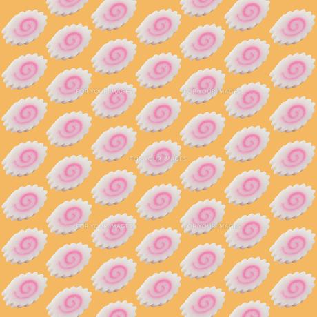 ナルト巻きを並べた地紋パターンの素材 [FYI00061395]
