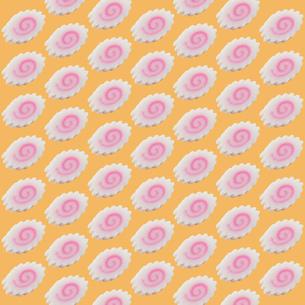 ナルト巻きを並べた地紋パターンの写真素材 [FYI00061395]