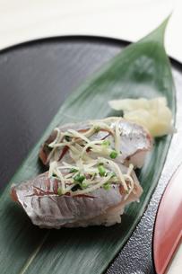アジのにぎり寿司の写真素材 [FYI00061435]