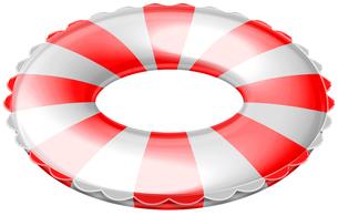 浮き輪 斜めの写真素材 [FYI00061788]