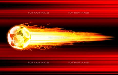 サッカー シュートイメージ赤背景の素材 [FYI00061822]