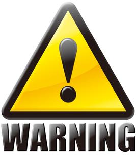 警告マーク WARNINGの写真素材 [FYI00061829]