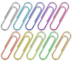 クリップ 10色の写真素材 [FYI00061830]