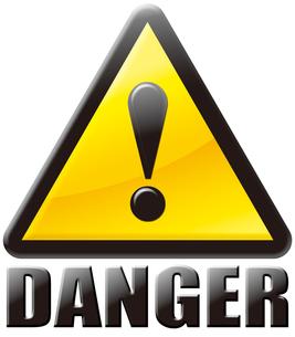 危険DANGERマークの写真素材 [FYI00061831]