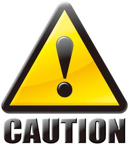 注意CAUTIONマークの写真素材 [FYI00061832]