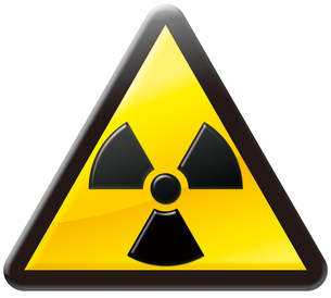 放射線注意マークの写真素材 [FYI00061840]