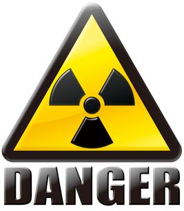 放射線注意マーク DANGERの写真素材 [FYI00061841]