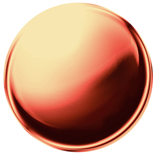金属の玉 銅の写真素材 [FYI00061845]