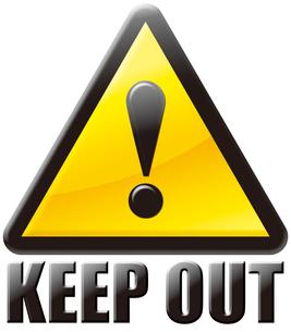 立入禁止 KEEP OUT マークの写真素材 [FYI00061848]