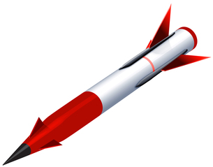 ミサイル レッドの写真素材 [FYI00061849]