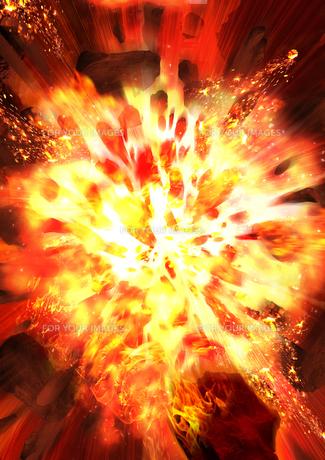 爆破の写真素材 [FYI00061892] | ストックフォトのamanaimages PLUS