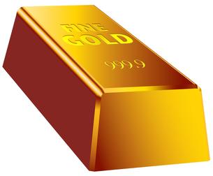 金塊 単品の写真素材 [FYI00061906]