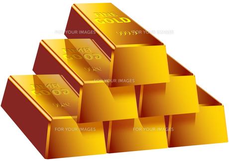 金塊 山積みの素材 [FYI00061915]